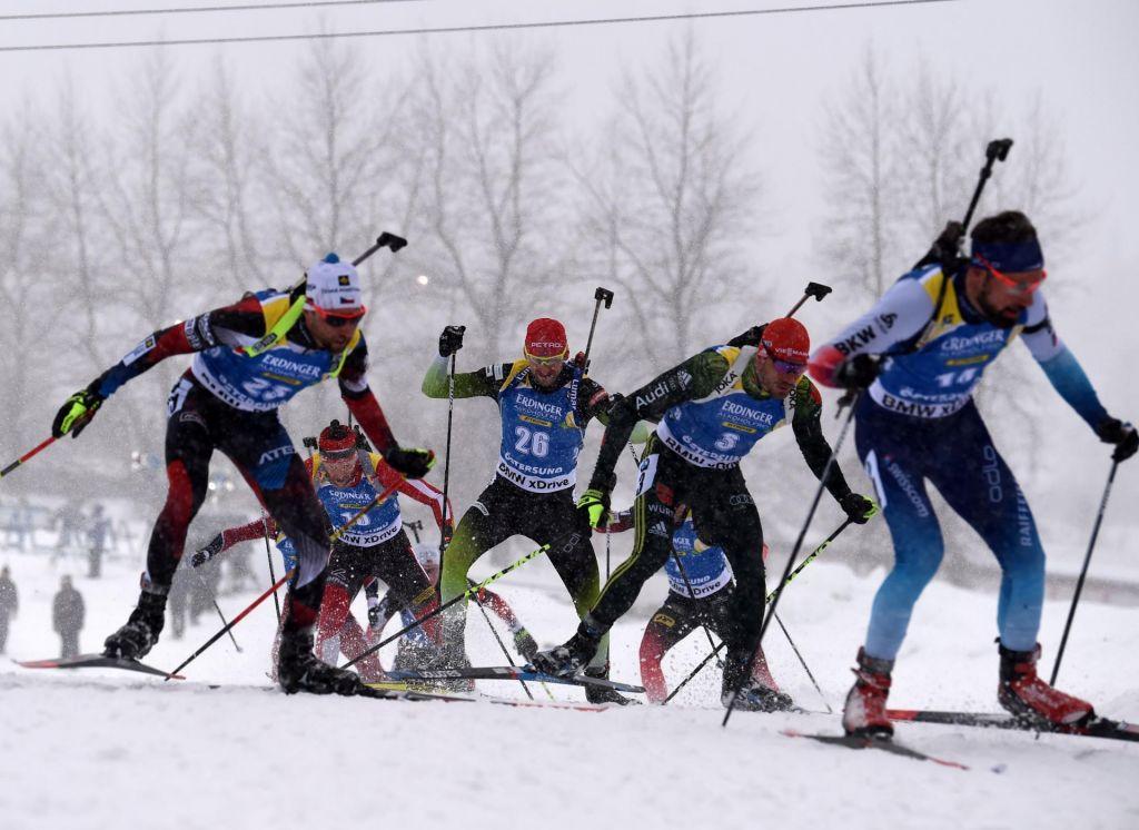 Biatlonci v Östersundu niso dočakali cilja