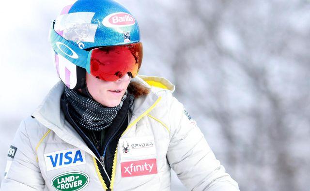 Prva zvezdnica alpskega smučanja Mikaela Shiffrin je deklasirala konkurenco v Killingtonu. FOTO: AFP