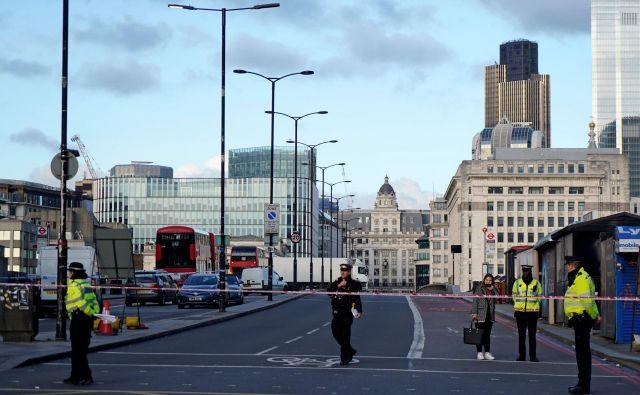 Londonska policija je dogodek obravnavala kot teroristično dejanje.FOTO: Niklas Halle'n/Afp