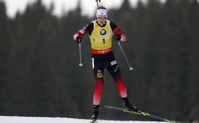 Prvi biatlonski šprint v sezoni je pripadel Johannesu ThingnesuBøju. FOTO: Matej Družnik/Delo