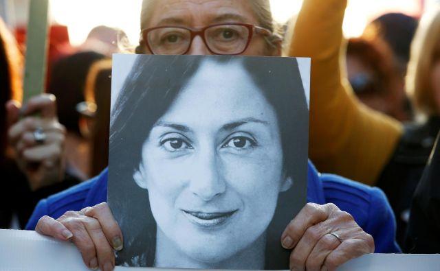 Ljudje se strinjajo, da mora Muscat odstopiti, pravi Matthew Caruana Galizia. FOTO: Reuters