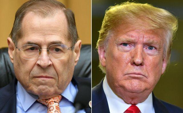 Naslednji nasprotnik republikanskega predsednika Donalda Trumpa bo demokratski predsednik pravosodnega odbora predstavniškega domaJerry Nadler. FOTO: Mandel Ngan/AFP