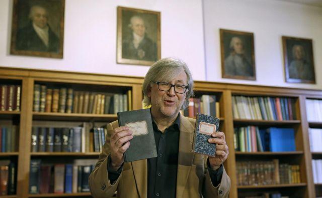 V Schwentnerjevih beležnicah so zapisani njegovi izdatki, povezani predvsem z ustvarjalci slovenske moderne.Foto Blaž Samec