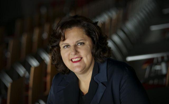 Uršula Cetinski, generalna direktorica Cankarjevega doma in predsednica Nacionalnega sveta za kulturo Foto Jože Suhadolnik