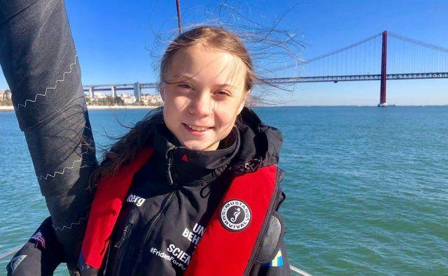 Greta Thumberg je iz Lizbone že pripotovala v Madrid. FOTO: Greta Thunberg Media Via Reuters