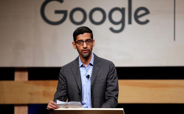 Sundar Pichai je v Googlu začel delati leta 2004, zadnja štiri leta ga je tudi vodil. Po novem vodi tudi Alphabet. FOTO: Reuters