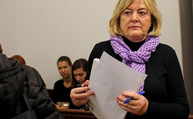 Hilda Tovšak je odsedela več kot pet od dosojenih osmih let zapora, zdaj hodi na sodišče s prostosti. FOTO: Tomi Lombar