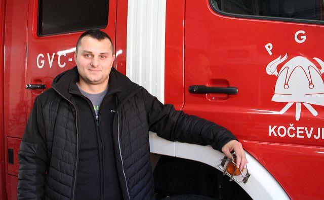 Igor Kalinič, strokovni delavec Gasilske zveze Kočevje. FOTO:Simona Fajfar