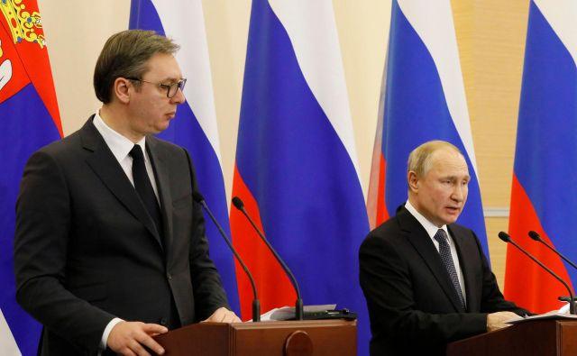 Državnika sta se pogovarjala tudi o boleči srbski točki Kosovu. Foto: Afp