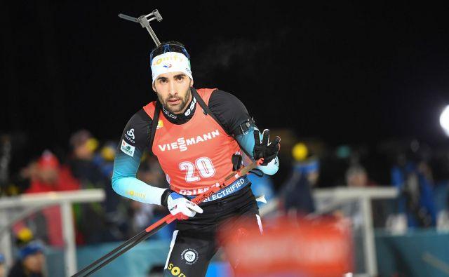 V francoski reprezentanci so se na Švedskem veselili trojne zmage, na vrh se je povzpel Martin Fourcade. FOTO: AFP