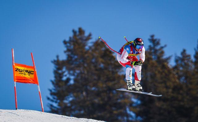 Švicar Beat Feuz se je med vsemi specialisti v hitrih disciplinah v zadnjih osmih letih kraljevanja Marcela Hirscherja v skupnem seštevku najbolj približal veliki lovoriki. Za Avstrijcem je v zimi 2011/12 zaostal za 25 točk. FOTO: Usa Today Sports