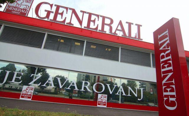 Agencija za zavarovalni nadzor (AZN) je dala dovoljenje za združitev zavarovalnic Generali in Adriatic Slovenica. FOTO: Jože Suhadolnik/Delo