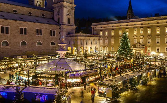 Christkindlmarkt, ena najstarejših in najlepših adventnih tržnic, stoji v središču mesta. FOTO: Tourismus Salzburg