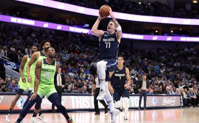 Dallas gre naprej tudi takrat, ko Luka Dončić ni v najboljši dnevni formi. Za 15. zmago v tej sezoni NBA je premagal Minnesoto. FOTO: USA TODAY Sports