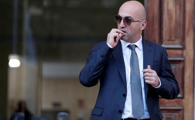 Yorgen Fenech (na fotografiji)je na sodišču povedal, da ga je nekdanji vodja premierovega kabineta Keith Schembri ves čas obveščal o preiskavi. FOTO: Yara Nardi/Reuters