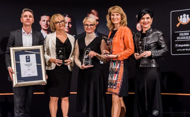 Podjetje Lek je prejelo priznanje Najuglednejši delodajalec 2019 in priznanje Ugledni delodajalec po izboru študentov. FOTO: MojeDelo.com