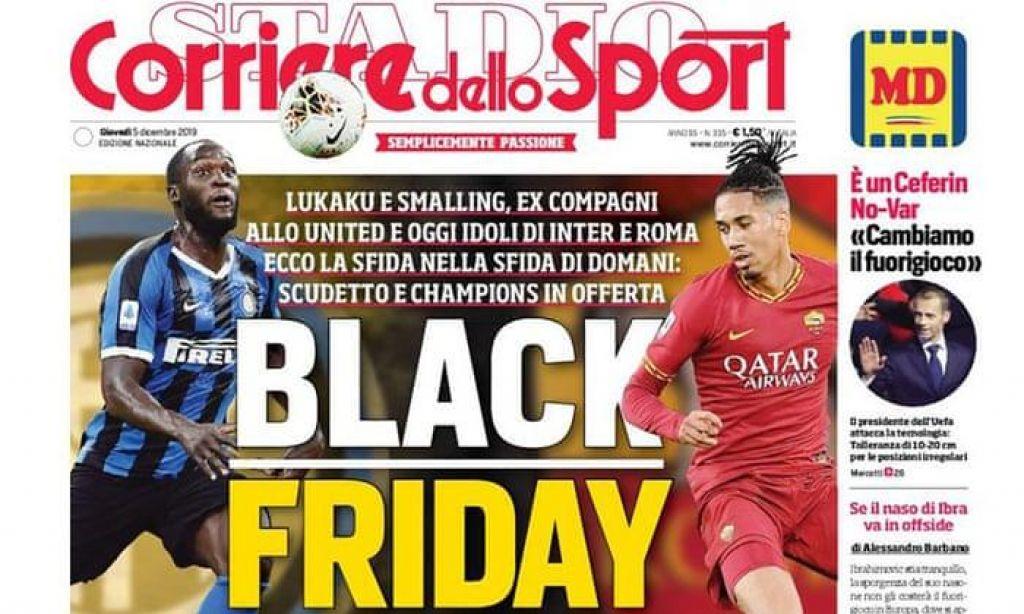 Black Friday razburil Italijo; Lukaku: Najbolj neumen naslov