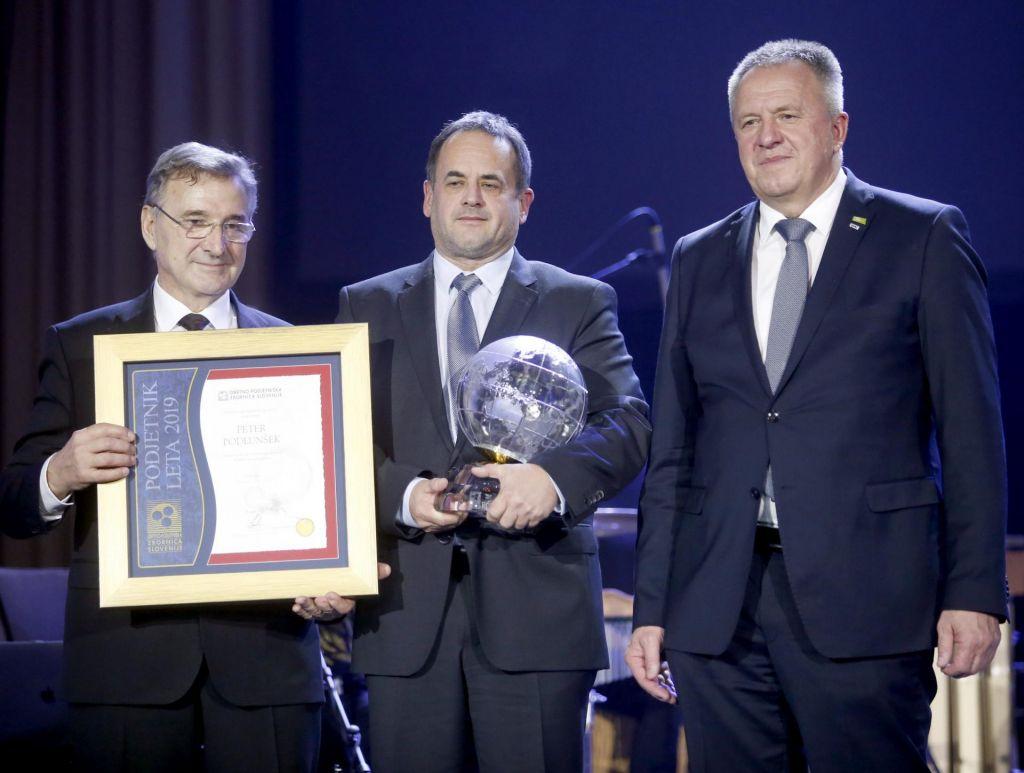 FOTO:Aleksander Gorečan je Obrtnik leta 2019, Peter Podlunšek pa Podjetnik leta 2019