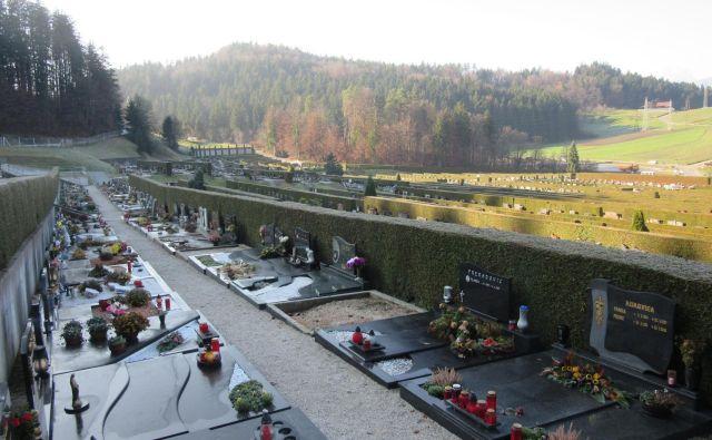 Čeprav prostora za pokope zmanjkuje, so morali načrtovano širitev pokopališča preložiti. FOTO: Špela Kuralt/Delo