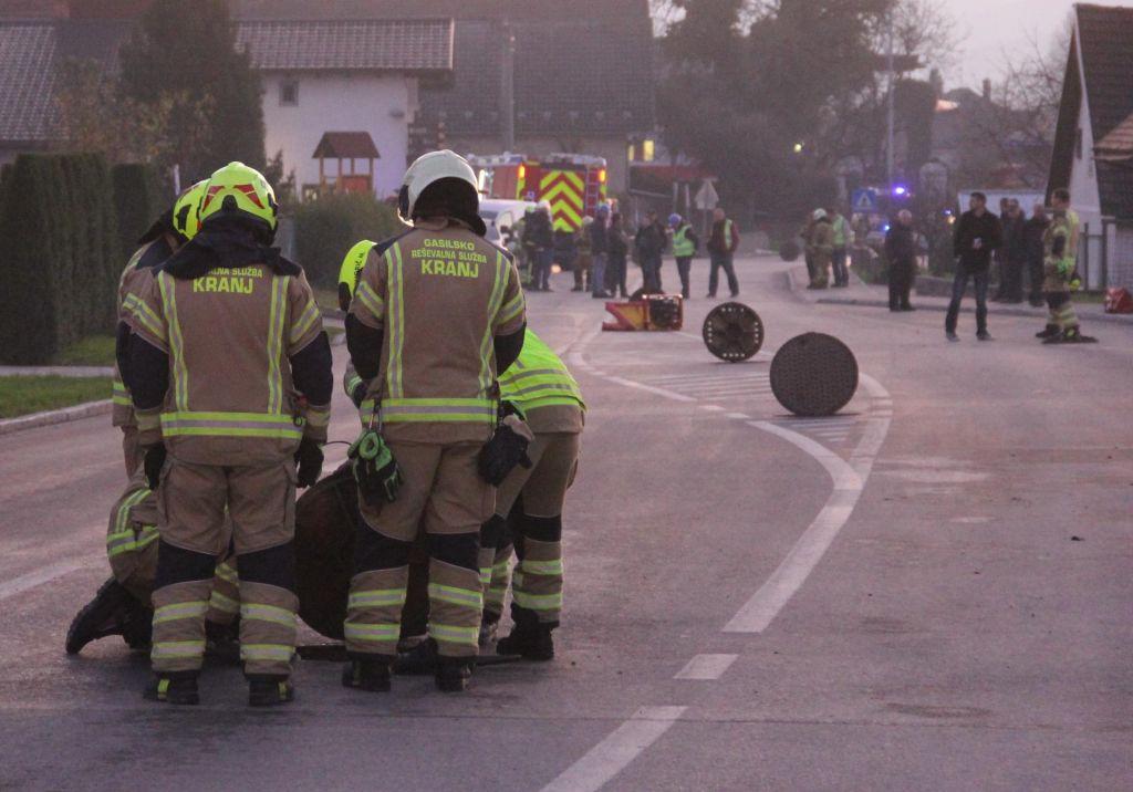 V Britofu bodo zaradi plina morali izkopati del cestišča