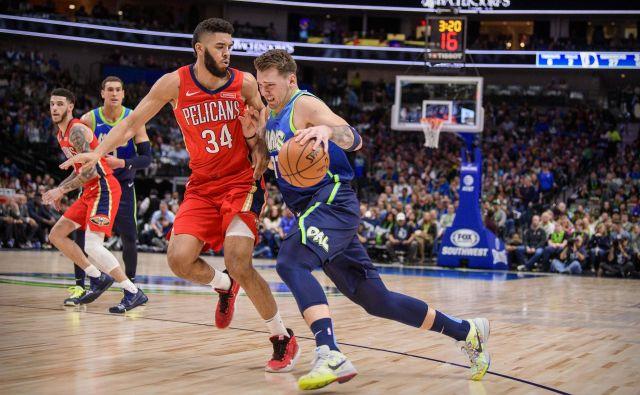 Luka Dončić se proti New Orleansu ni pretirano naprezal, a je bil še enkrat v ospredju tekme. FOTO: USA Today Sports