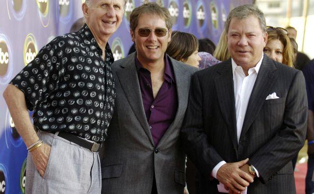 Auberjonois (levo), James Spader in William Shatner. FOTO: Chris Pizzello/Reuters