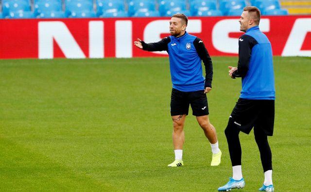 Argentinski reprezentant Alejandro Gomez (levo) bo v odsotnosti Josipa Iličića (desno) glavni adut Atalante za morebitno zmago v Ukrajini. FOTO: Reuters