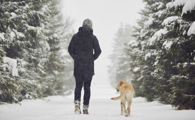 Zaradi psa se moramo gibati na svežem zraku. FOTO: Shutterstock