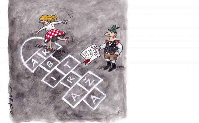 Ni se mogoče znebiti občutka, da se na sodišču v Luxembourgu raje sploh ne vpletajo v zadevo. Karikatura: Marko Kočevar