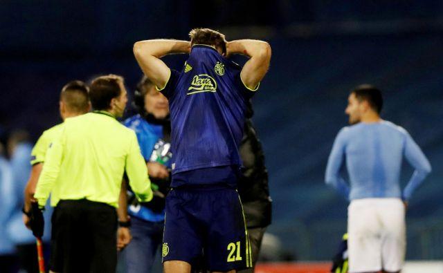 Nogometaši Dinama (na fotografiji Bruno Petković) po slovesu od Evrope niso skrivali razočaranja. FOTO: Reuters
