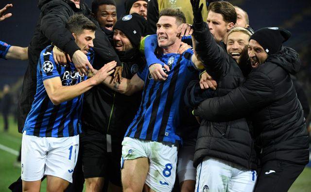 Atalanta se je ob debiju v ligi prvakov prebila v osmino finala. FOTO: AFP
