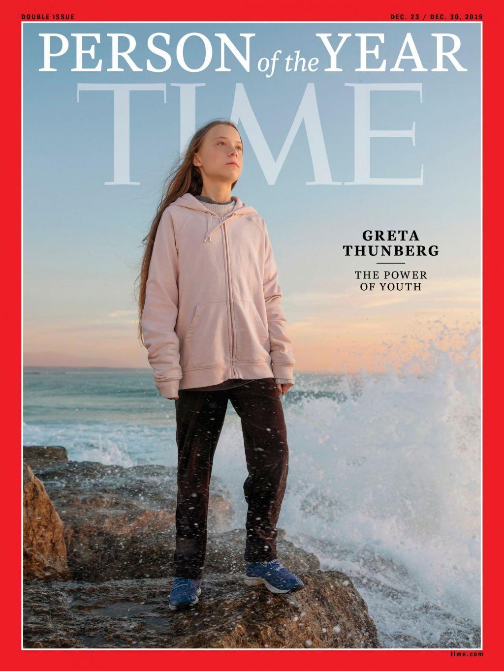 FOTO:Osebnost leta revije Time je GretaThunberg