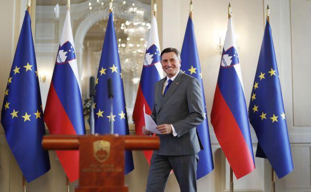 »Kakšen fantastičen dan,« je izjavil predsednik republike Borut Pahor pred desetimi leti, ko je kot slovenski premier s svojo hrvaško kolegico Jadranko Kosor podpisal arbitražni sporazum. FOTO: Leon Vidic/Delo