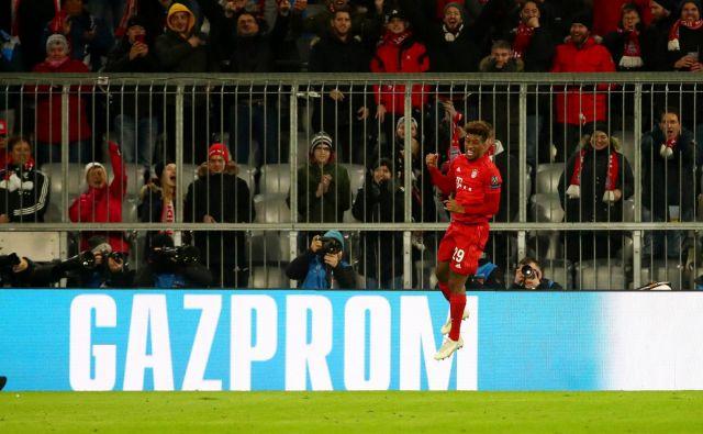 Kingsley Coman se je najprej veselil prvega gola proti Tottenhamu, kmalu pa je staknil še eno od številnih poškodb, ki je na »prvo žogo« nakazovala tudi konec kariere. FOTO: Reuters