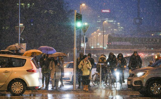 Slovenijo je zajelo sneženje. FOTO: Jože Suhadolnik/Delo