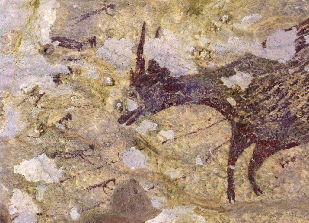 Na Sulaveziju odkrili jamsko upodobitev lova, verjetno najstarejšo figuralno na svetu