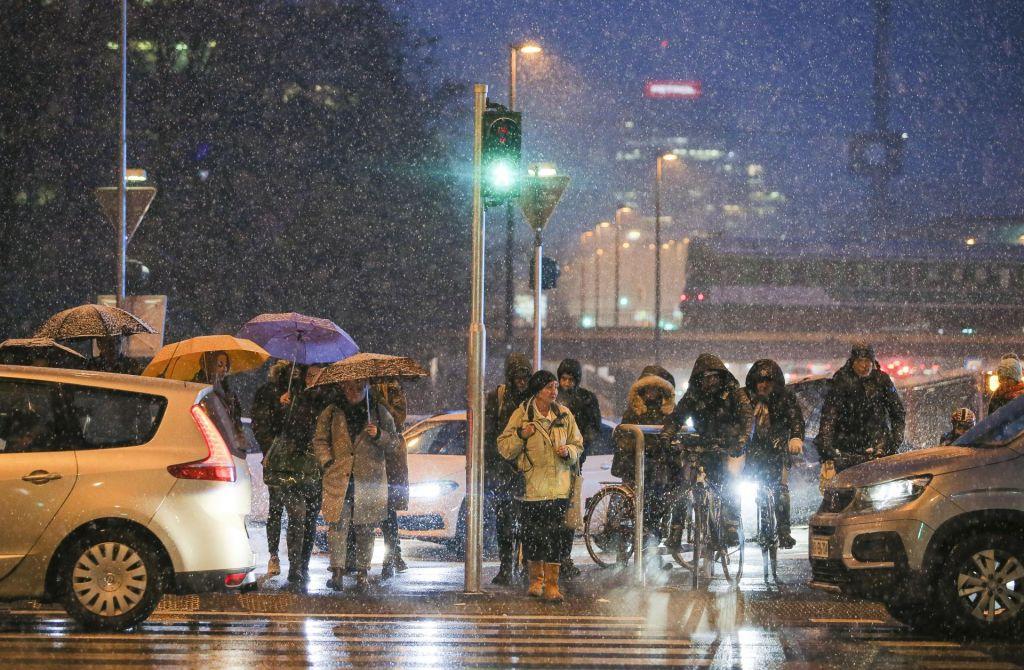 FOTO:Slovenijo zajelo rahlo sneženje