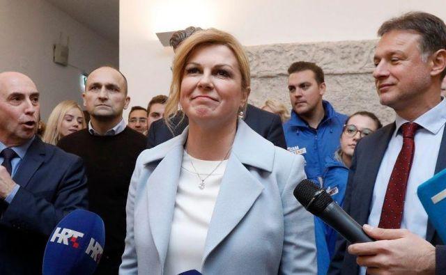 Kolinda Grabar-Kitarović je pred petimi letipremagala Iva Josipovića s prednostjo 33.000 glasov. FOTO: Cropix