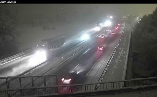 Posnetek s primorske avtoceste. FOTO: kamere.dars.si