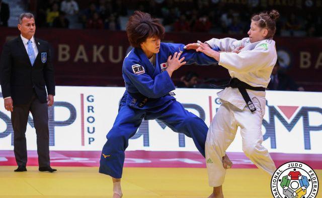 Tina Trstenjak (desno) je na mastersu v Qingdau izgubila dva dvoboja, oba proti Japonkama. FOTO: IJF