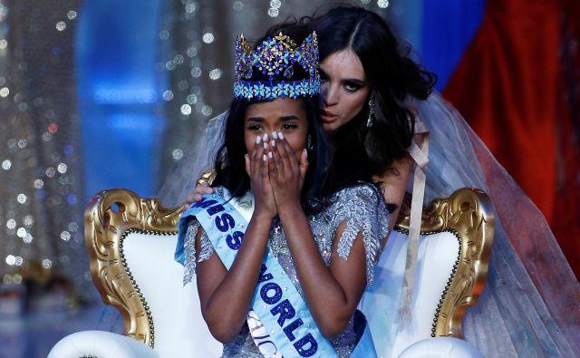 Najlepša na svetu je postala 23-letna Jamajčanka; Singhova je že četrta miss sveta iz Jamajke. FOTO: Henry Nicholls/Reuters
