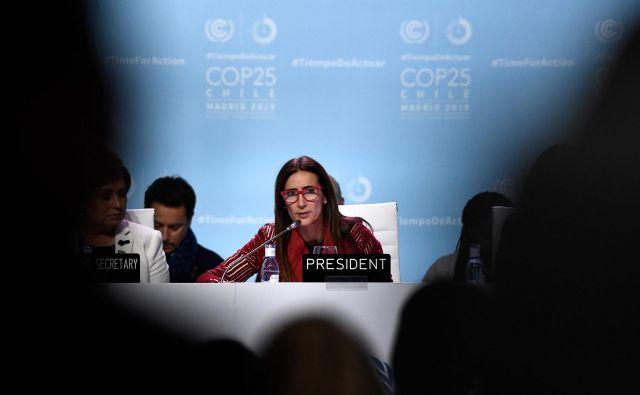 Carolina Schmidt, čilska ministrica za okolje in predsednika COP25. FOTO: Oscar Del Pozo/AFP