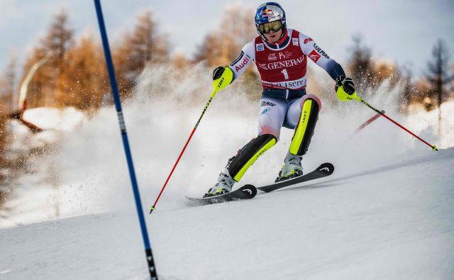 Alexis Pinturault je zanesljivo dobil slalom v Val d'Iseru. FOTO: AFP
