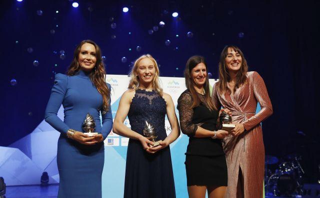 Pred enim letom so bili najboljši Luka Dončić (nagrado je zanj prejela mama Mirjam Poterbin), Janja Garnbret, Tina Mrak in Veronika Macarol. FOTO: Leon Vidic/Delo