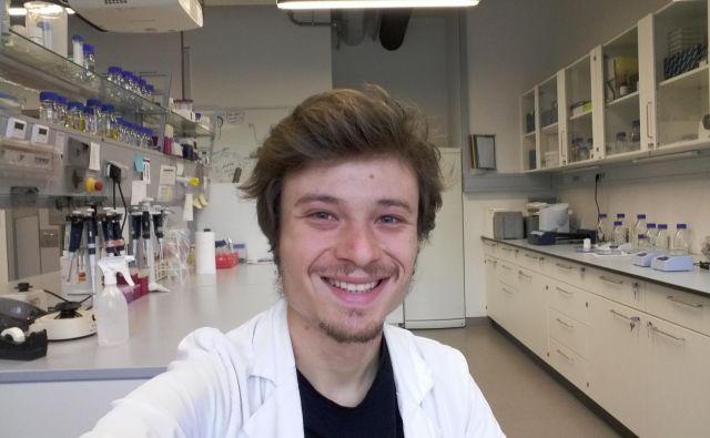 Jakob Rupert je doktorski študent programa Genetika in molekularna biologija na Oddelku Charlesa Darwina za biologijo in biotehnologijo na rimski univerzi La Sapienza. Foto Osebni Arhiv