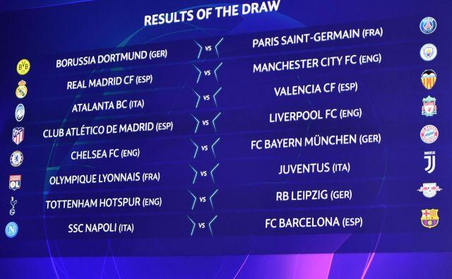 Že v osmini finala lige prvakov se bosta pomerila dfavorita za naslov Real Madrid in Manchester City. FOTO: AFP
