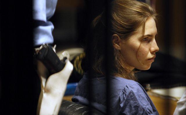 Amanda Knox je bila obsojena, ker je na sodišču delovala preveč hladnokrvno. Kasneje so jo oprostili. Foto Reuters