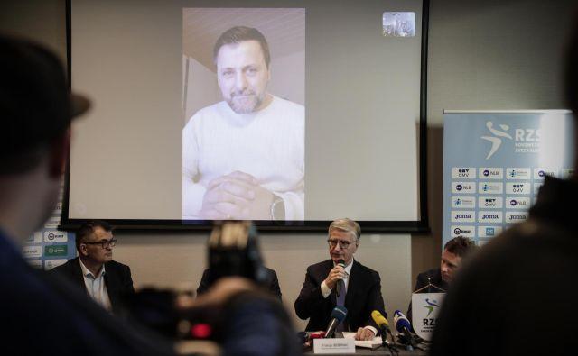 Ljubomir Vranješ se je zbranim oglasil prek video povezave. FOTO: Uroš Hočevar