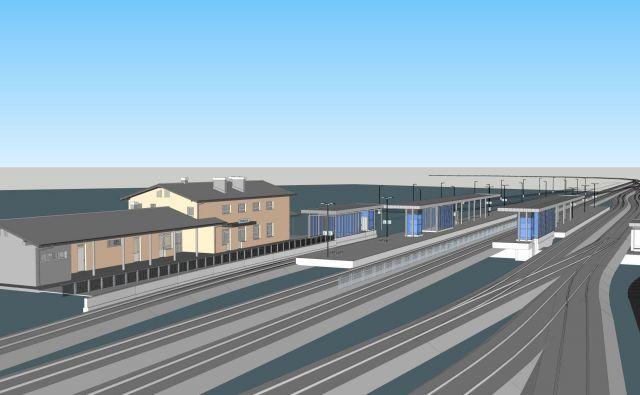 Železniška postaja v Grosupljem bo nekoč dajala videz postaje v predmestju New Yorka. FOTO: arhiv DRSI