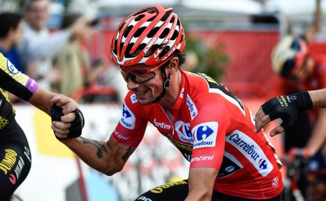 Primož Roglič med letošnjo dirko po Španiji. FOTO: AFP